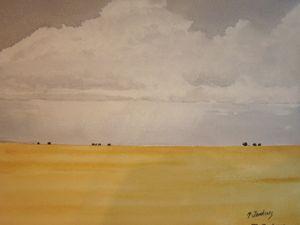 Open Field, Hay 397 - Mark Jenkins Watercolors