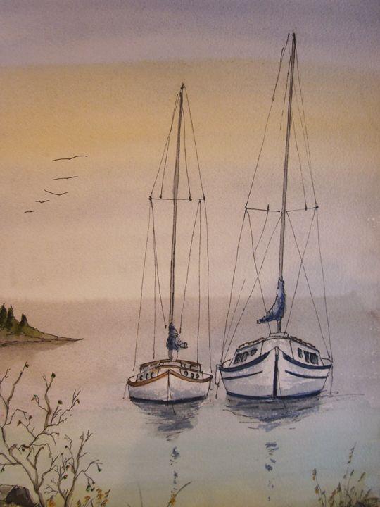 Again, the same Two Sail Boats 438 - Mark Jenkins Watercolors