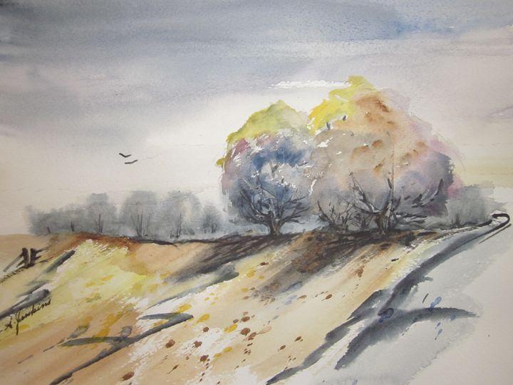 Farm Land 346 - Mark Jenkins Watercolors