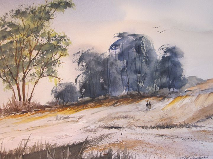A Country Walk 456 - Mark Jenkins Watercolors