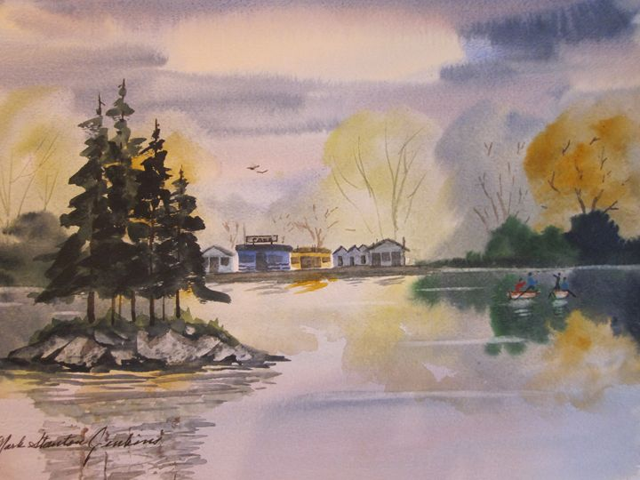 Alpine Lake, Ca. 457 - Mark Jenkins Watercolors