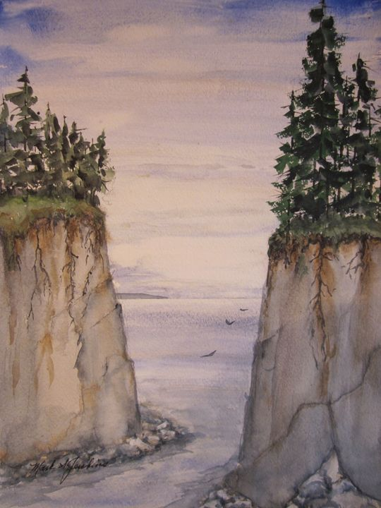 Tricky Passage 470 - Mark Jenkins Watercolors
