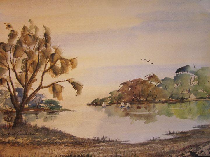 Sailing Club Exploring 487 - Mark Jenkins Watercolors