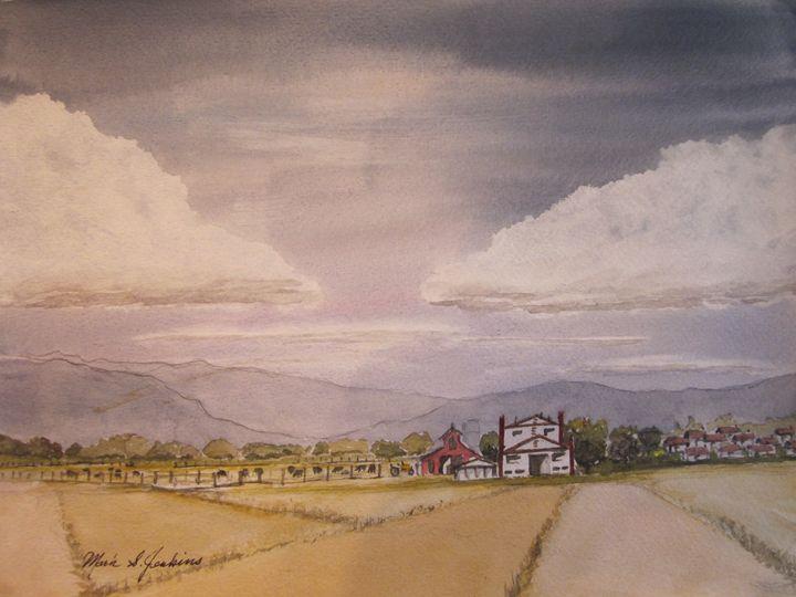 Cattle Ranch, Idaho 496 - Mark Jenkins Watercolors