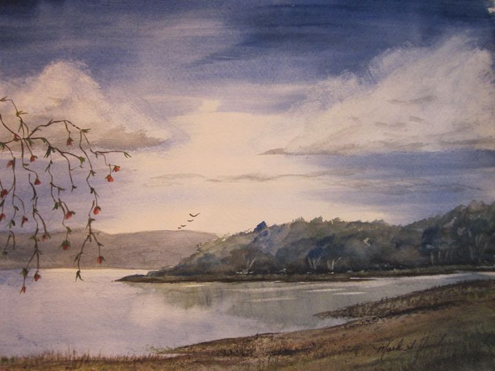 A Quiet Bay 497 - Mark Jenkins Watercolors