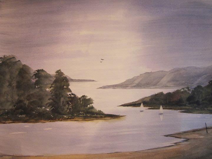 Sailing 509 507 - Mark Jenkins Watercolors