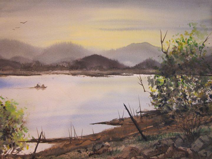 Gone Fishing 512 - Mark Jenkins Watercolors
