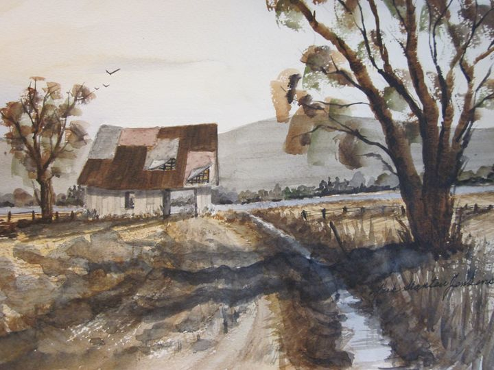 Old Shack 515 - Mark Jenkins Watercolors