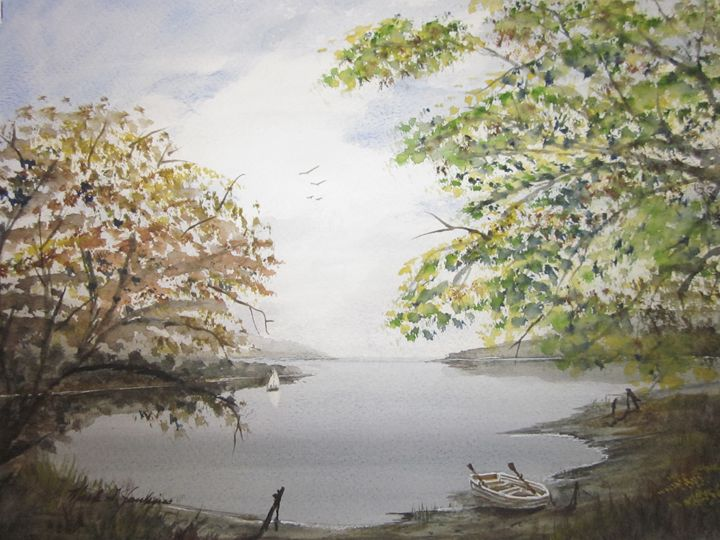 Beach Scene 329 - Mark Jenkins Watercolors