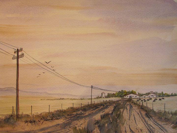 Cattle Ranch 518 - Mark Jenkins Watercolors