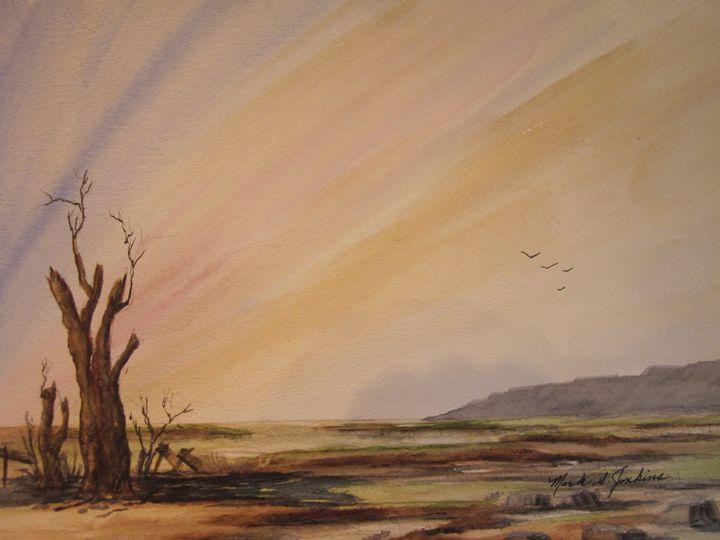 Open Land 520 - Mark Jenkins Watercolors
