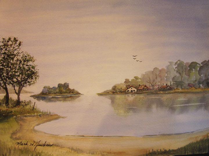 Summer Homes 524 - Mark Jenkins Watercolors