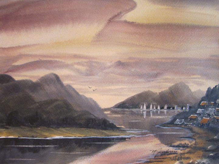 Bay Scene 2 535 - Mark Jenkins Watercolors