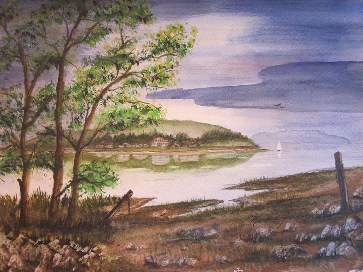Bay Scene 4 538 - Mark Jenkins Watercolors