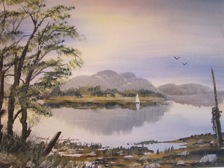 Bay Scene 5 539 - Mark Jenkins Watercolors