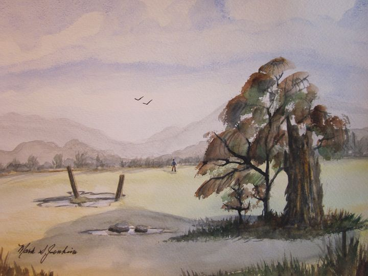 Open Field 548 - Mark Jenkins Watercolors