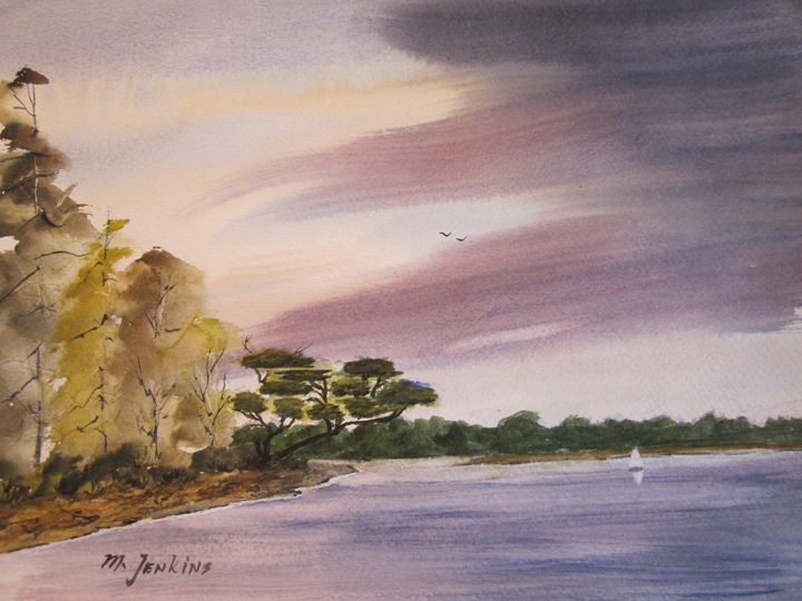 River Scene 557 - Mark Jenkins Watercolors