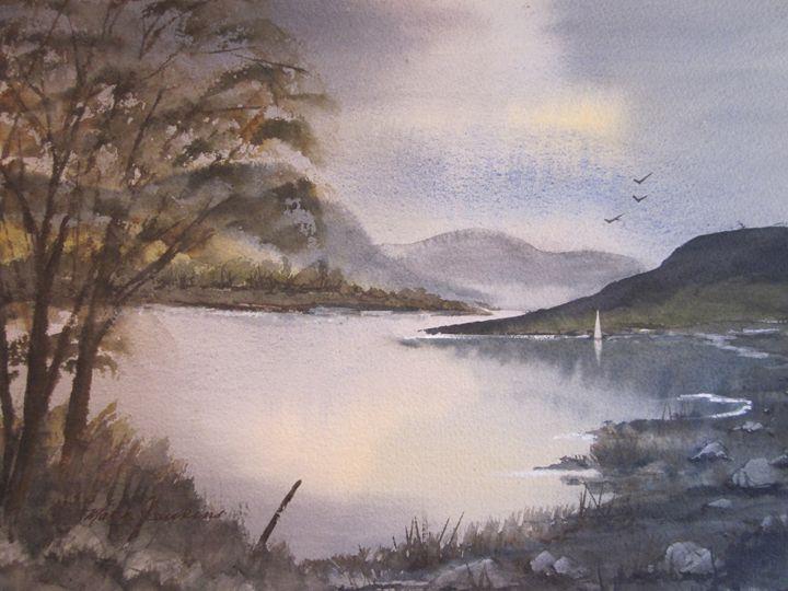 River Scene 564 - Mark Jenkins Watercolors