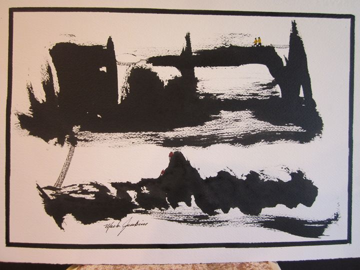 Sumi Ink Sketch 7 571 - Mark Jenkins Watercolors