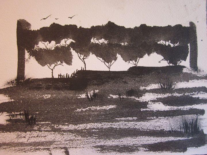 Sumi Sketch 8 580 - Mark Jenkins Watercolors