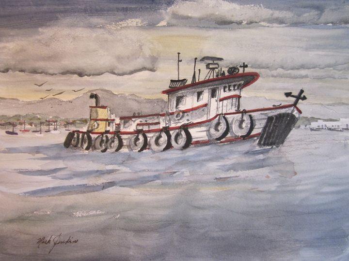 Tug on SF Bay 581 - Mark Jenkins Watercolors