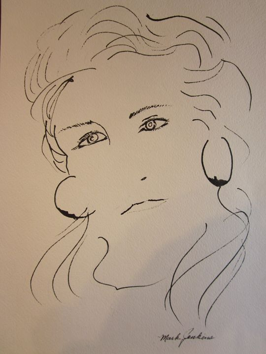 Just a Pen & Ink Sketch 680 - Mark Jenkins Watercolors