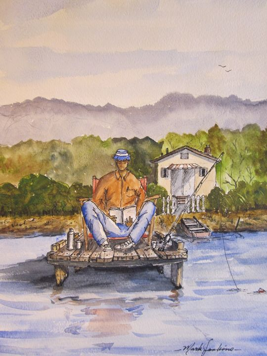 France, Italy, No tks...I'm good 67 - Mark Jenkins Watercolors