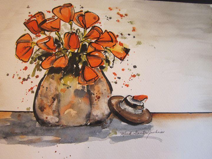 Flowers Pen & Ink 669 - Mark Jenkins Watercolors