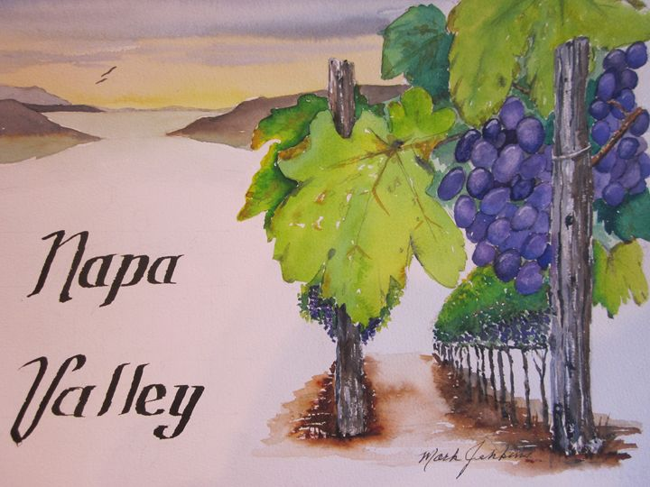 Beautiful Napa Valley 649 - Mark Jenkins Watercolors