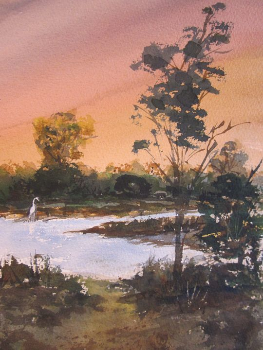 Creek Scene 647 - Mark Jenkins Watercolors