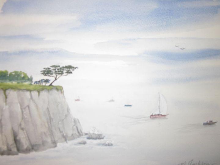Off Pier in Monterey 12 - Mark Jenkins Watercolors