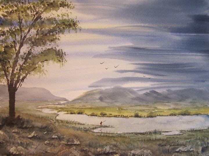 Fishing the River 637 - Mark Jenkins Watercolors