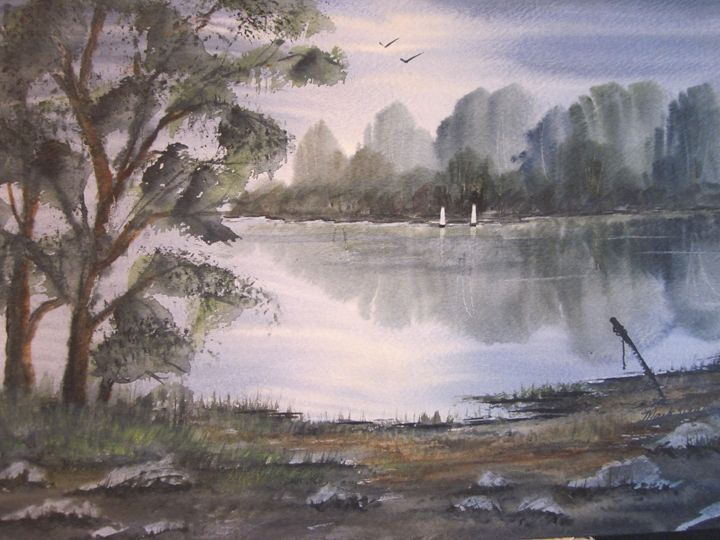 Sailing the Lake 636 - Mark Jenkins Watercolors