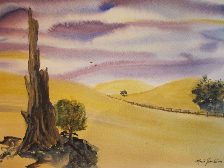 Stanford Hillside 635 - Mark Jenkins Watercolors