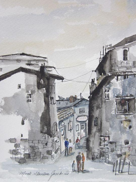 Pen & Ink Sketch, Monterey, Mx 11 - Mark Jenkins Watercolors