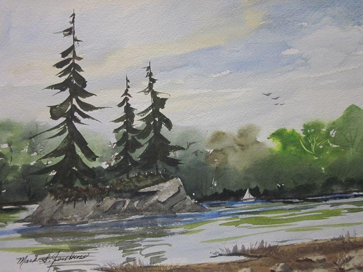 Alpine Lake, Ca 269 - Mark Jenkins Watercolors