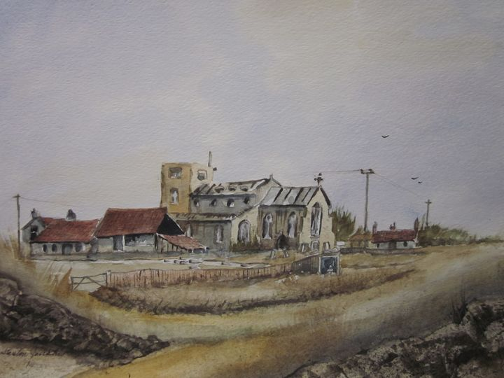 Was old church 259 - Mark Jenkins Watercolors