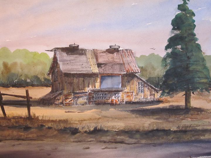 Pen & Ink, Old Building 405 - Mark Jenkins Watercolors