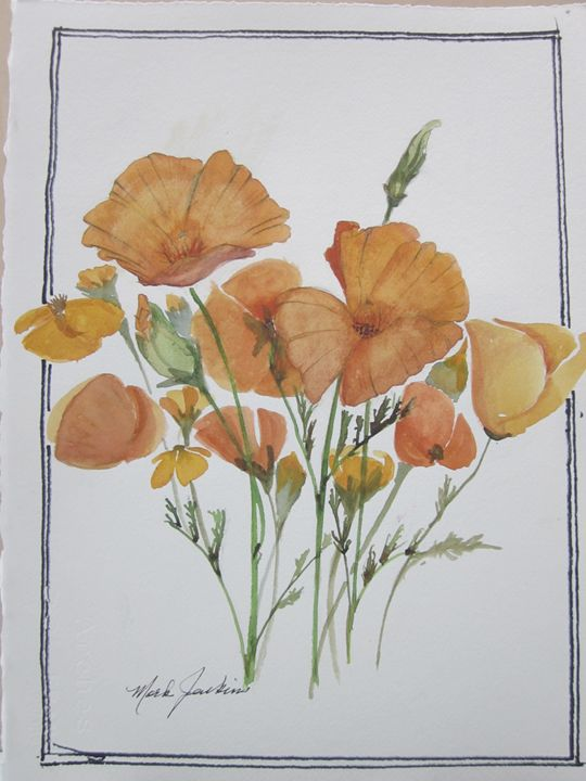 Flowers 572 - Mark Jenkins Watercolors