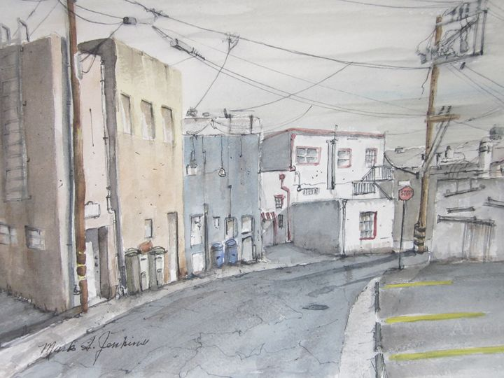 Back Alley 369 - Mark Jenkins Watercolors