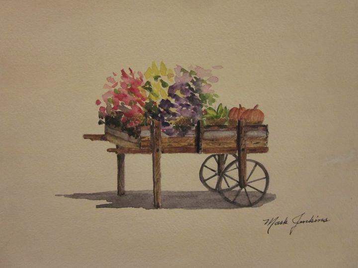 Flower Cart 659 - Mark Jenkins Watercolors