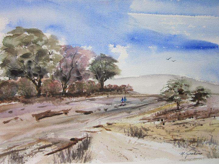 A walk in the country 377 - Mark Jenkins Watercolors