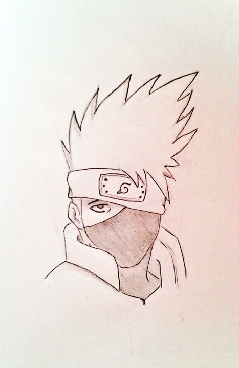 Drawing Of Kakashi Naruto Manga Drawings