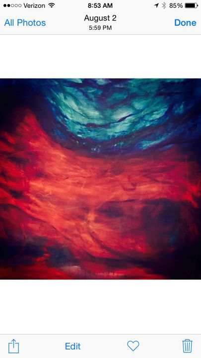 Red lava, Blue Water - Deansart
