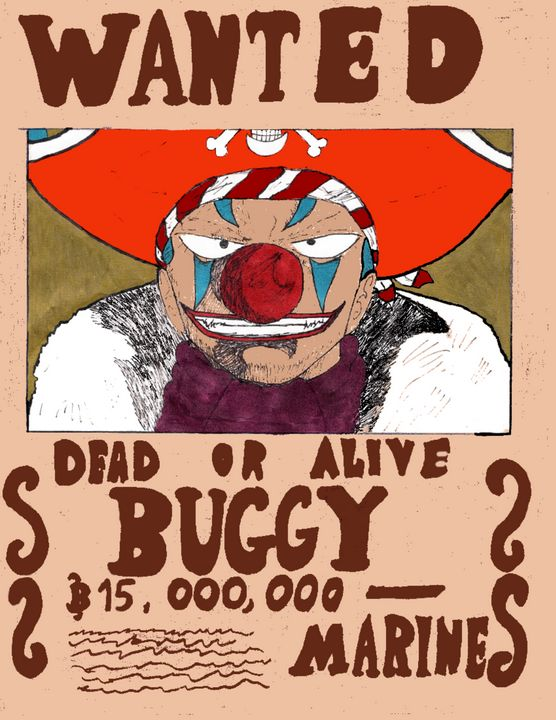 Buggy Wanted Poster - Anime Art