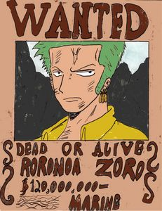 Zoro Wanted Poster