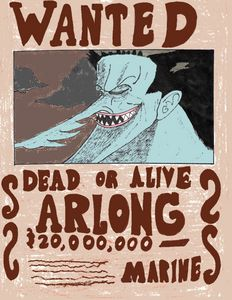 Arlong Wanted Poster