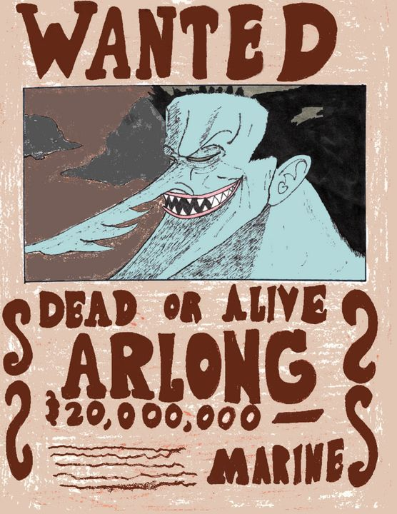 Arlong Wanted Poster - Anime Art