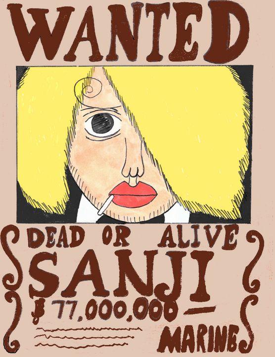 Sanji Wanted Poster - Anime Art