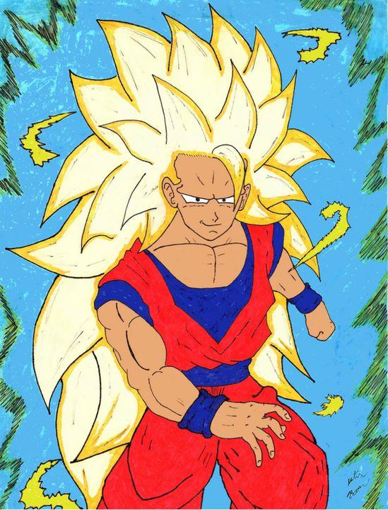 SS3 Goku - Anime Art